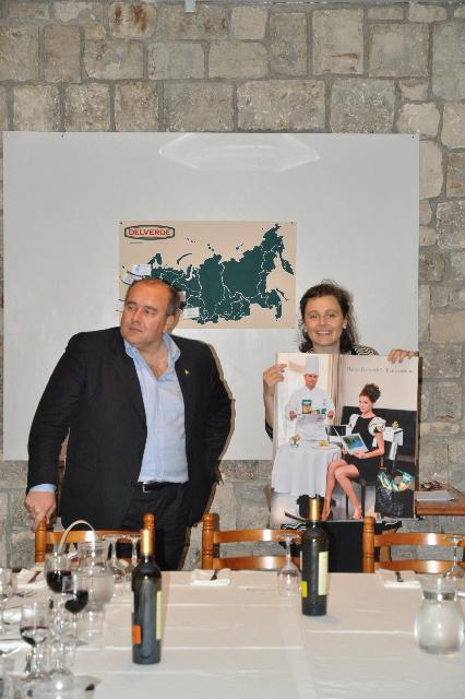 il Ceo di Delverde Luca Ruffini, con l'International Marketing Director di Delverde Anna Lanzani