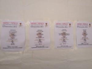 I menu della Festa