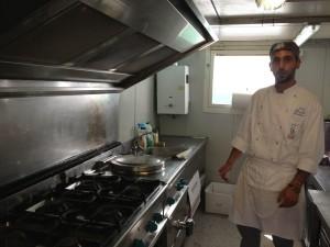 Davide nella cucina solidale