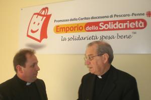a sinistra don Marco Pagniello