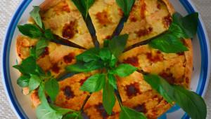 Torta rustica basilico