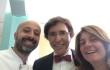 Niko Romito e Federica Morricone in un selfie con il primo Ministro Di Rupo