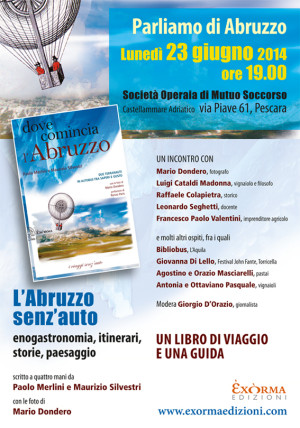 Locandina incontro Pescara - 23 giugno 2014