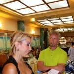 Il maestro Sandro Natale con la giornalista Monica Di Pillo de Il Messaggero