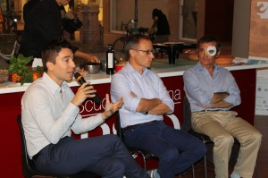 I relatori. Da sinistra , Ciglia, Garrera, Vitone.