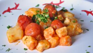 Gnocchi+pomodorini+baccalà