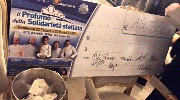 cena 5  stelle assegno