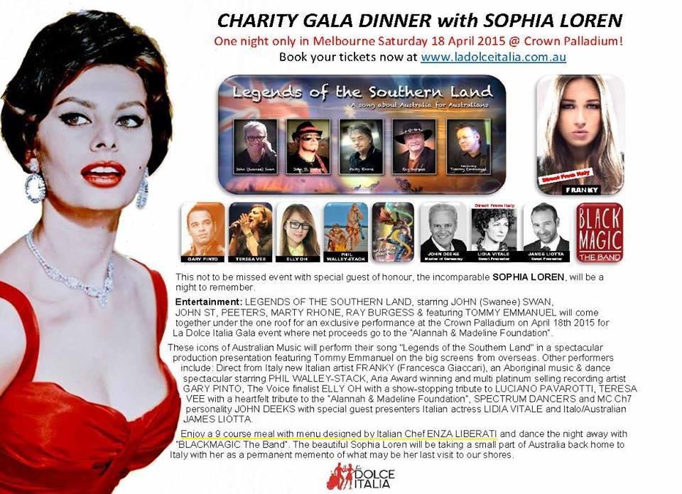 Melbourne, la chef Enza Liberati a cena con Sofia Loren - L\'Abruzzo ...