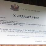 Targa Zafferaneto Zonfa_Le vie dello Zafferano