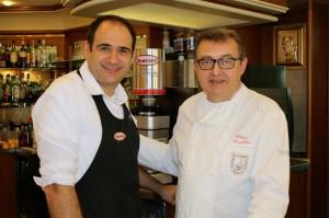 Dario Ciarlantini,a sinistra, con il maestro pasticcere Fabrizio Camplone