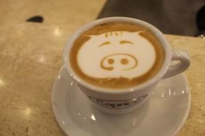Dario Ciarlantini dimostrazione Latte Art da Caprice Pescara, il maialino matto13