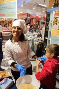 La chef Roberta Guidi alla Conad di via Milano Pescara08