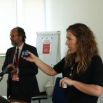 Federica Flamminii spiega analisi sensoriale olio