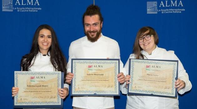 Tre abruzzesi diplomati alla scuola internazionale di cucina Alma