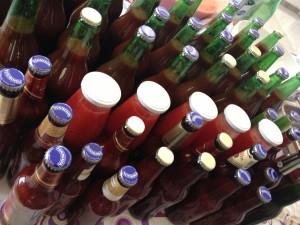 bottiglie pomodori